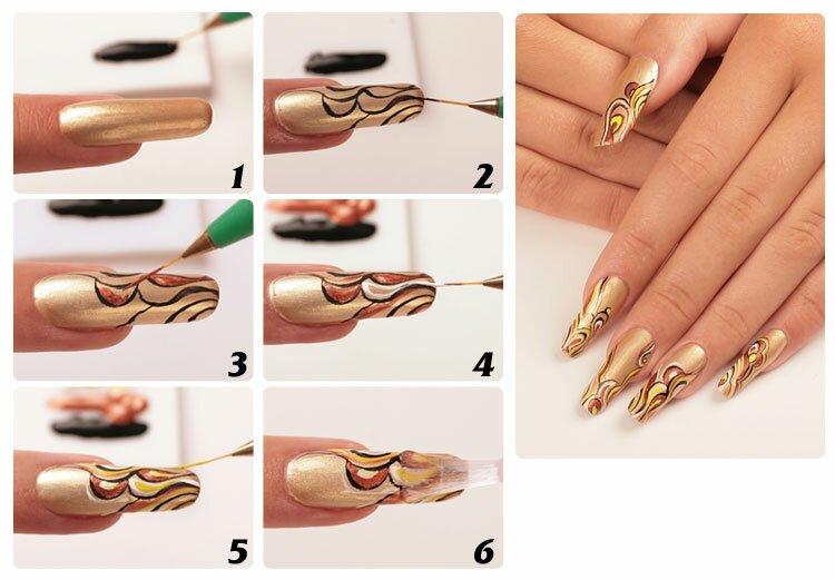 Рисунки красивых ногтей в домашних условиях