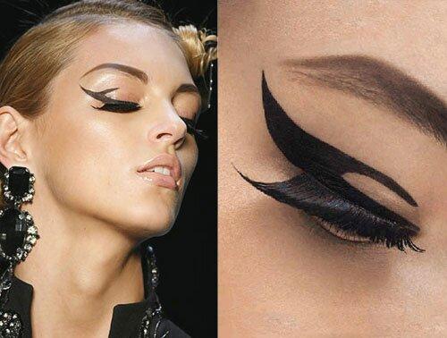 Стрелки в макияже 2012