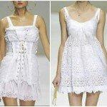 Белые платья короткие кружевные.
